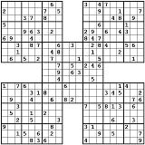 graphic regarding Sudoku Printable Hard identify 1001 Tough Samurai Sudoku Puzzles